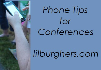 phone tips for conferences