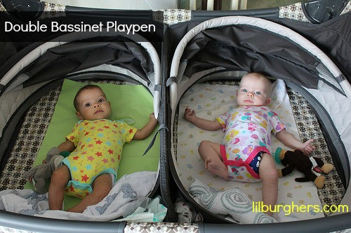 double bassinet playpen