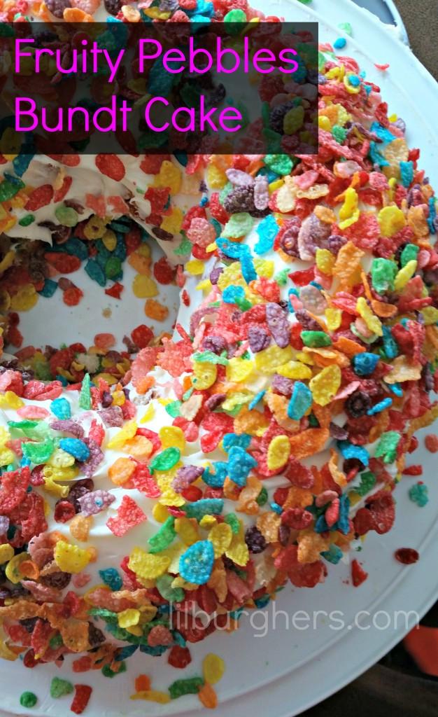 Fruity Pebbles Bundt Cake